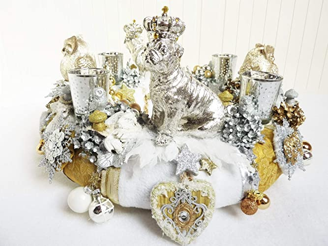 Weihnachtsdeko gold und silber