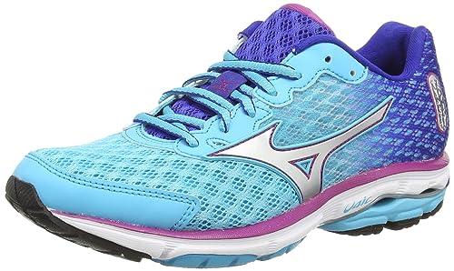 Mizuno Wave Rider 18 (W) - Zapatillas running para mujer, color azul (