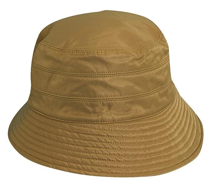 1458a8b45cb SCALA Women Rain HAT (Khaki) at Amazon Women s Clothing store