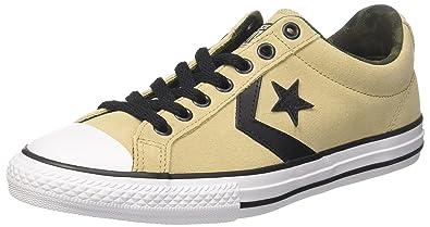 64bd2004 Converse Unisex Kids' Star Player Ox Vintage Khaki/White/Black Fitness Shoes