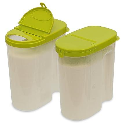 Etonnant FoooCo Clear Food Storage Containers U20134.5 Pound Sugar Storage U0026 Flour  Keeper With Airtight
