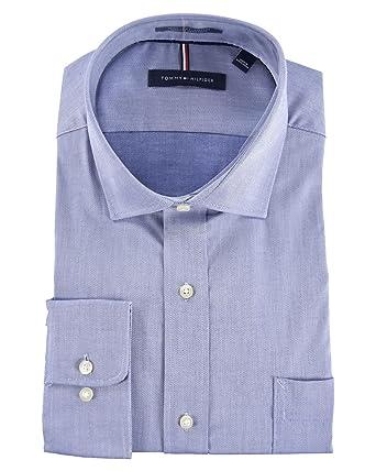 7a3ef116 Tommy Hilfiger Men's Regular Fit Wrinkle Resistant Long Sleeve Dress Shirt  - Lt Blue - 15