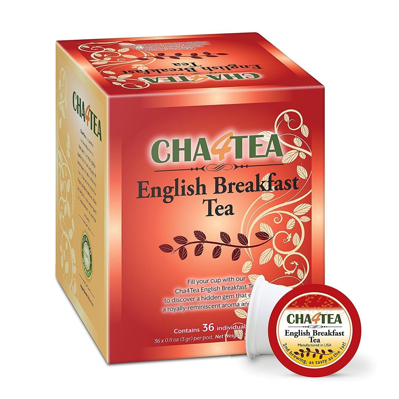 Cha4TEA 36-Count English Breakfast Tea for Keurig K-Cup