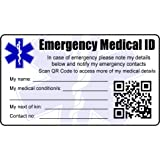 Medical Alert Id Wallet Card Asthma Plastic Identity Credit Card