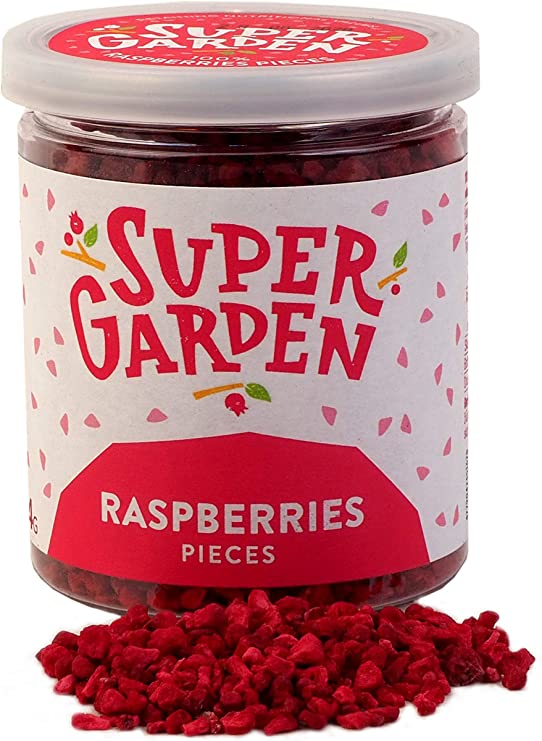 Supergarden Freeze Dried Berries and Fruits Pieces and Slices (Raspberries Pieces): Amazon.co.uk: Grocery