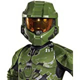 Halo Infinite Master Chief Mask, Kids Costume Headwear Accessory, Child Size Video Game Inspired Vacuform Half-Mask