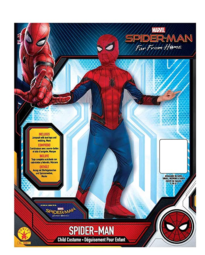 Rubies Marvel Spider-Man Far from Home Childs Spider-Man Costume & Mask