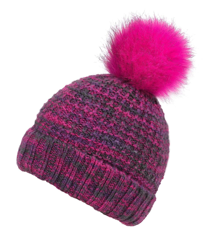 Lullaby Kids Kids Winter Warm Knitted Girls Boys Pom Pom Beanie Cap Hat