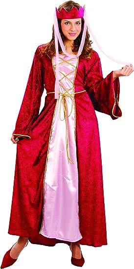 Disfraz medieval de reina para mujer M: Amazon.es: Juguetes y juegos