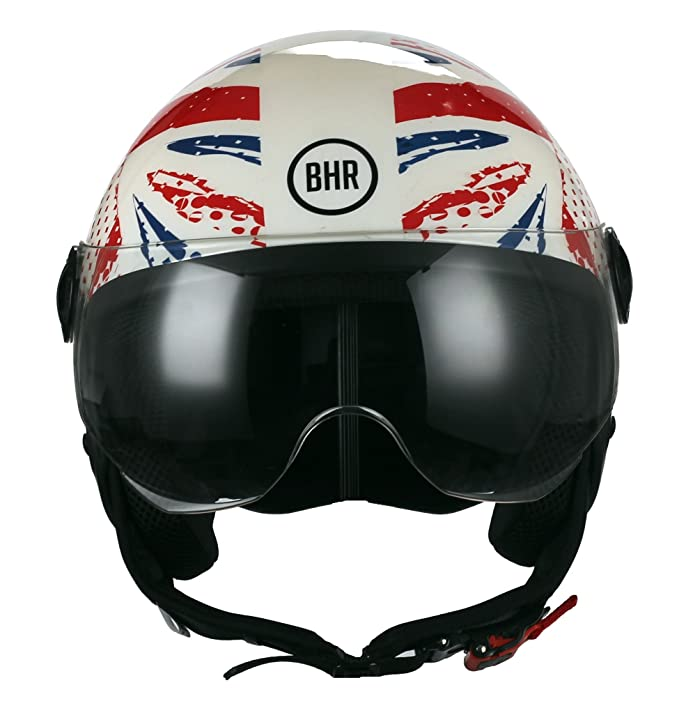 Amazon.es: BHR 34367 Casco Demi-Jet Linea One 801, Inglaterra, multicolor, talla M