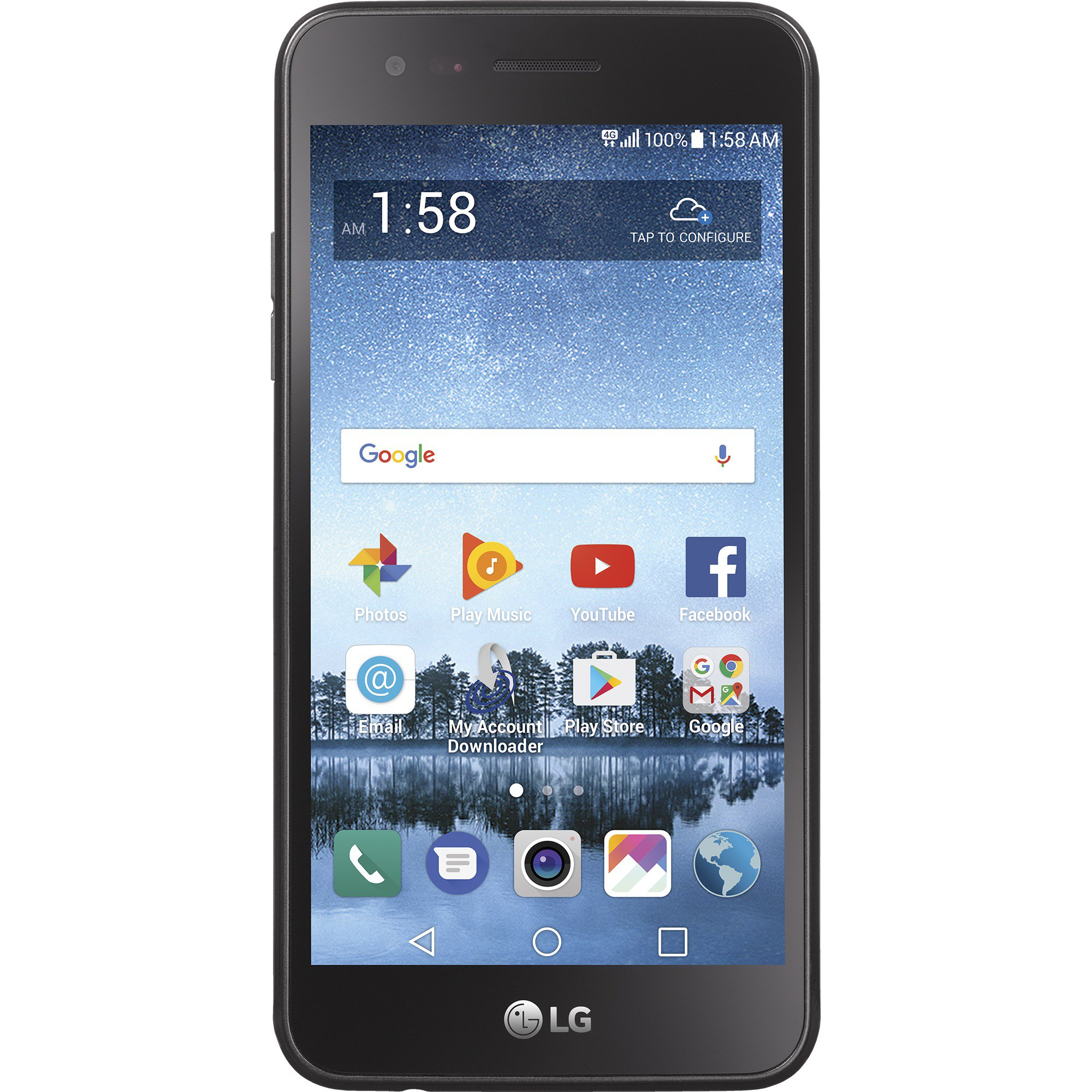 Net10 LG Rebel 3 4G LTE Prepaid Smartphone with Free $40 Airtime Bundle