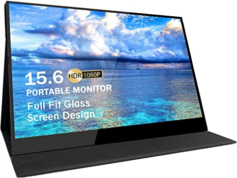 15.6 Inch 19201080 HDR Portable Monitor Type C For Raspberry Pi Leather Screen