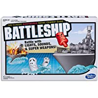 Hasbro A3846 Battleship Electronic with Carry Case - Naval Combat Game - 1 to 2 Players - Strategy Board Games - Ages 8…