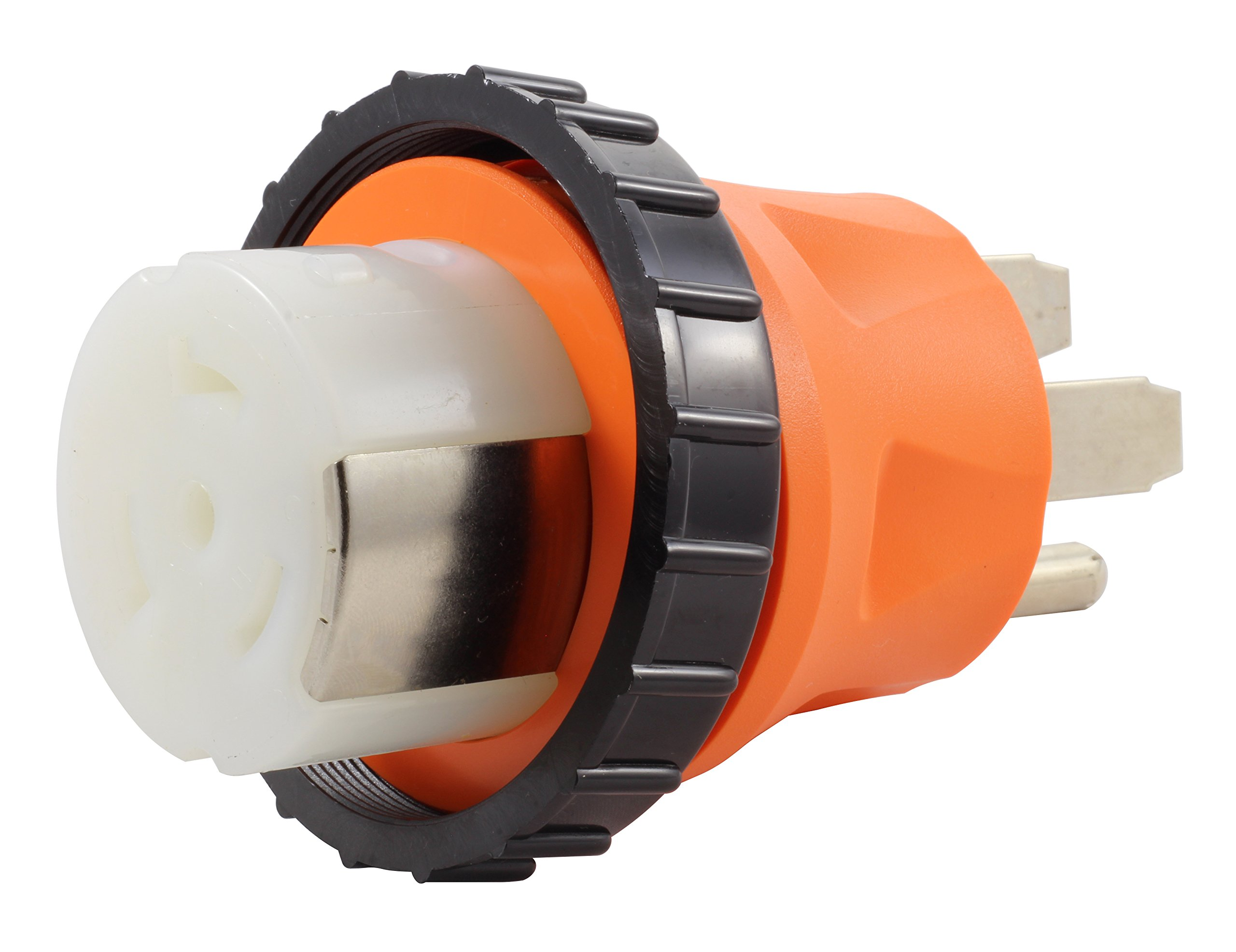 AC WORKS 50Amp RV Marine Detachable Adapter (14-50P 50A Straight Blade Plug-Compact) by AC WORKS