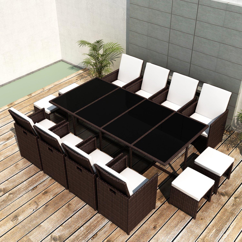 Ssitg Poly Rattan Gartenmöbel Essgruppe Gartengarnitur Set