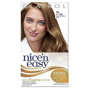 Clairol Nicen Easy Permanent Hair Dye GG Natural Dark Golden - Hair colour dark golden brown