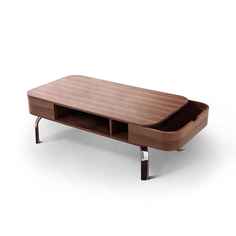Walnut Coffee Table.Amazon Com Best Care Llc Modern Low Profile Walnut Coffee Table