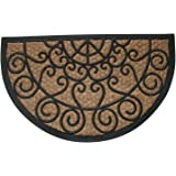 Geo Crafts G123 Tuffcor Doormat, Half Round Scroll