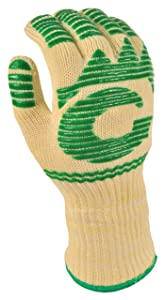 G & F 1683-1 Dupont Nomex& KevlarHeat Resistant Gloves, 13-Inch Extra Long Cuff Oven Gloves, BBQ Gloves, Large, 1 Piece