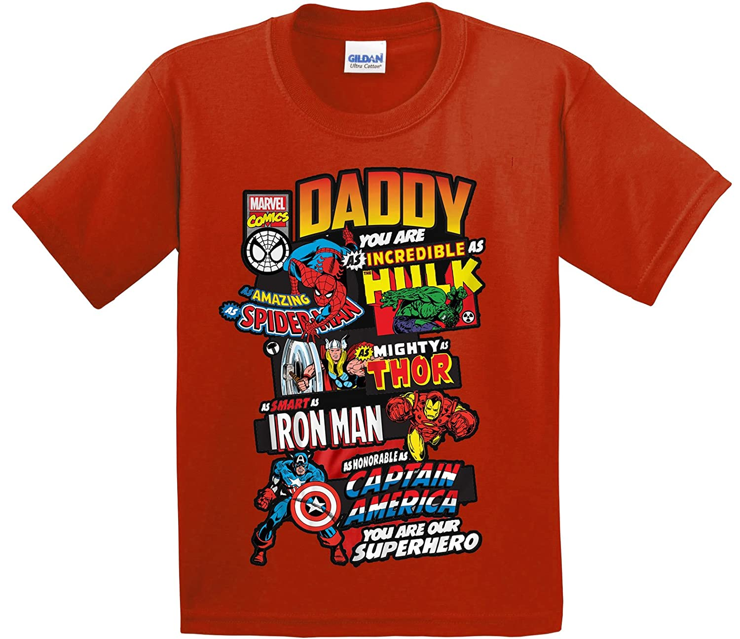 7d5e247b Superhero Daddy Marvel Characters T-Shirt - Multiple Colours (S-XXL):  Amazon.co.uk: Clothing