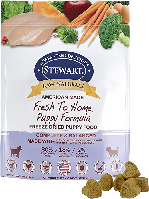 Stewart Raw Naturals Freeze Dried Puppy Food Grain Free Made In Usa With Chicken Fruits Vegetables For Fresh To Home All Natural Recipe 12 Oz Pet Supplies