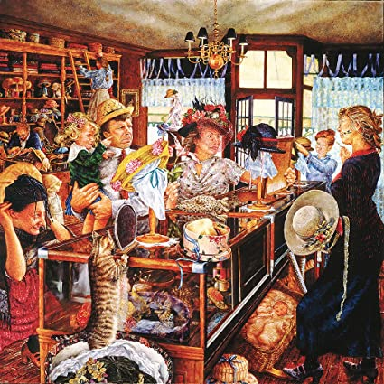 Amazon.com  The Millinery Shop 500 Piece Jigsaw Puzzle by SunsOut ... 60320edebd8
