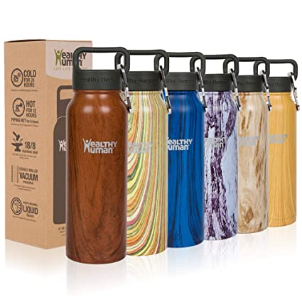 20a3bd027 Healthy Human Wood Collection Stainless Steel Vacuum Insulated Water Bottle