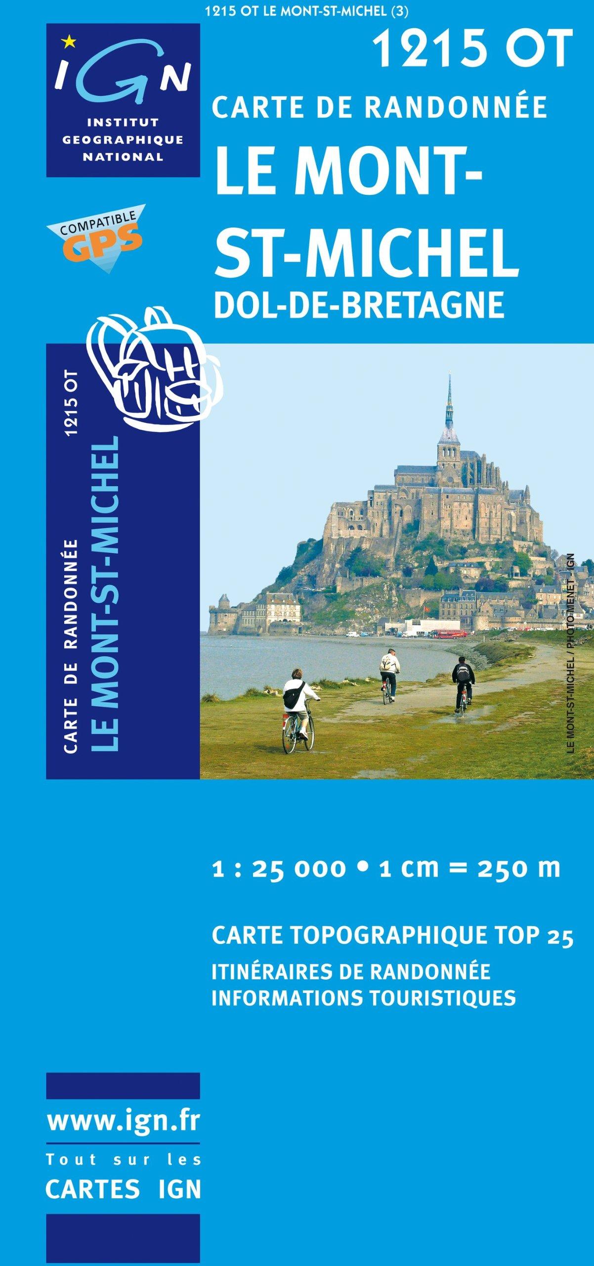 Carte Bretagne Randonnee.Amazon Fr Le Mont St Michel Dol De Bretagne Ign 1215ot Carte De