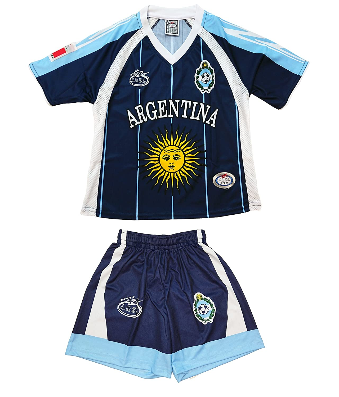 Arza Sports SHIRT ボーイズ B01MU5HTAG 4 ブルー ブルー 4