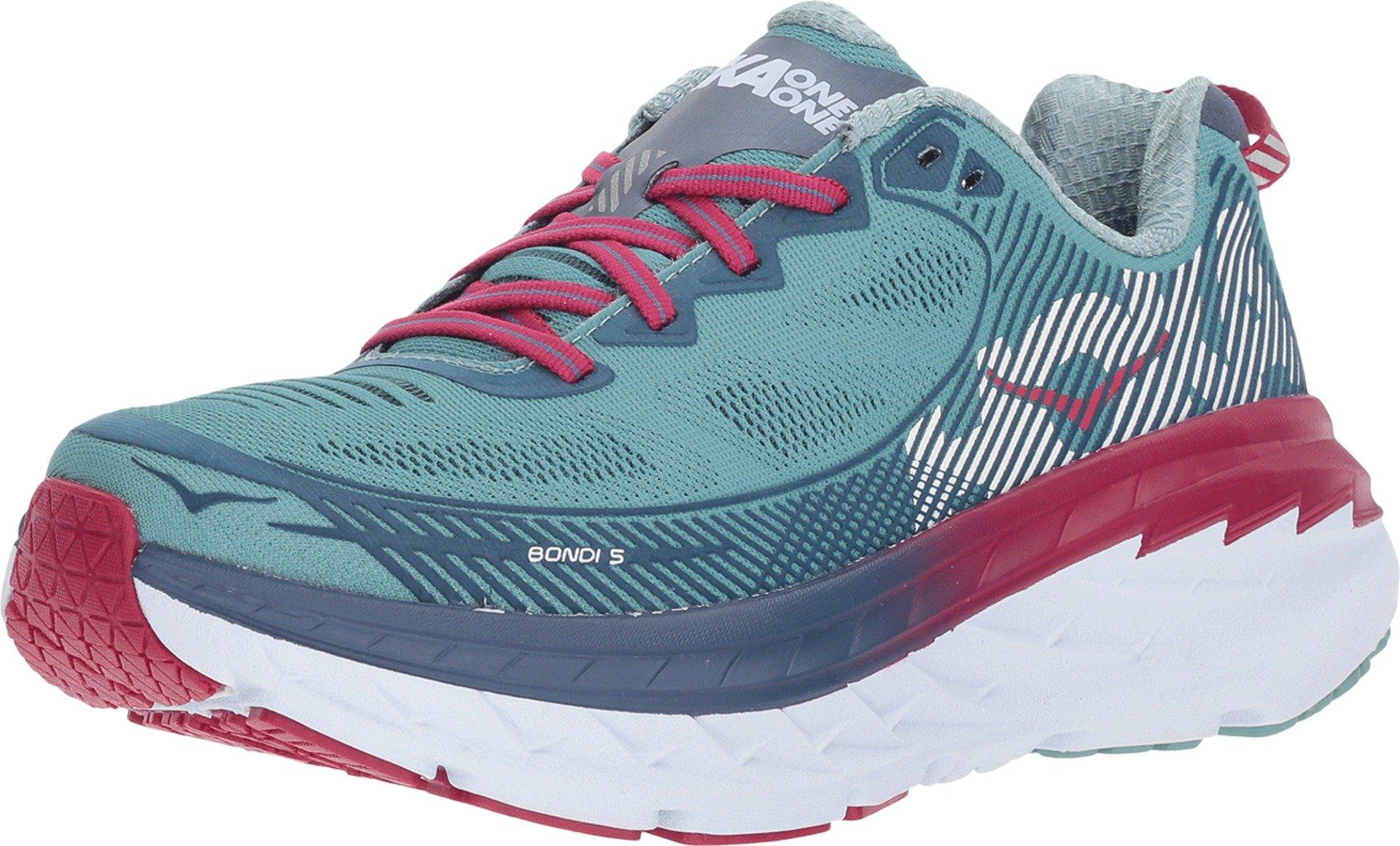 Hoka One Bondi 5 Aquifer/Vintage Indigo Running Shoes Womens 9