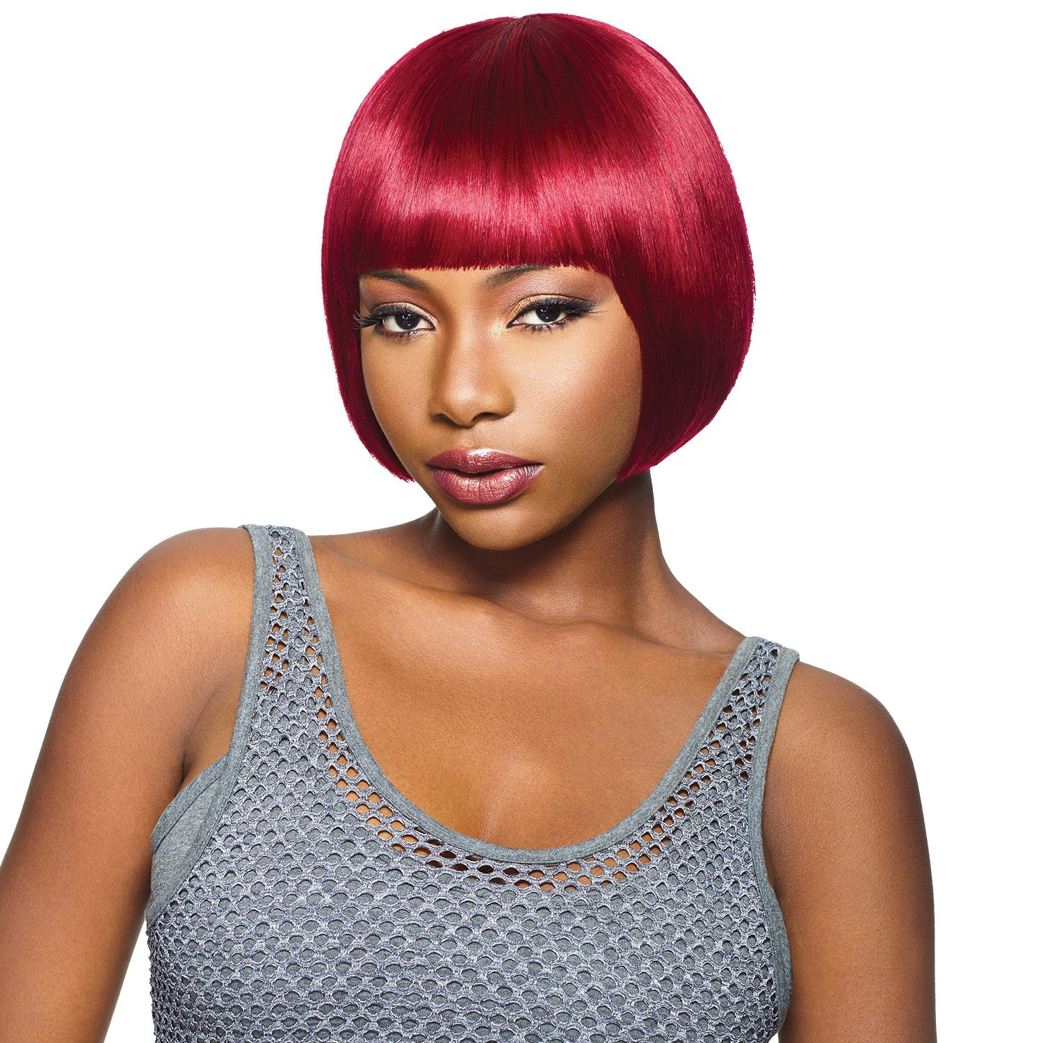 Amazon Outre Human Hair Wig Duby Wig Blunt Bang 2 Beauty