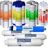 iSpring F28K75 3-Year Replacement Supply Set for 6-Stage Reverse Osmosis RO Water Filtration Systems with Alkaline…