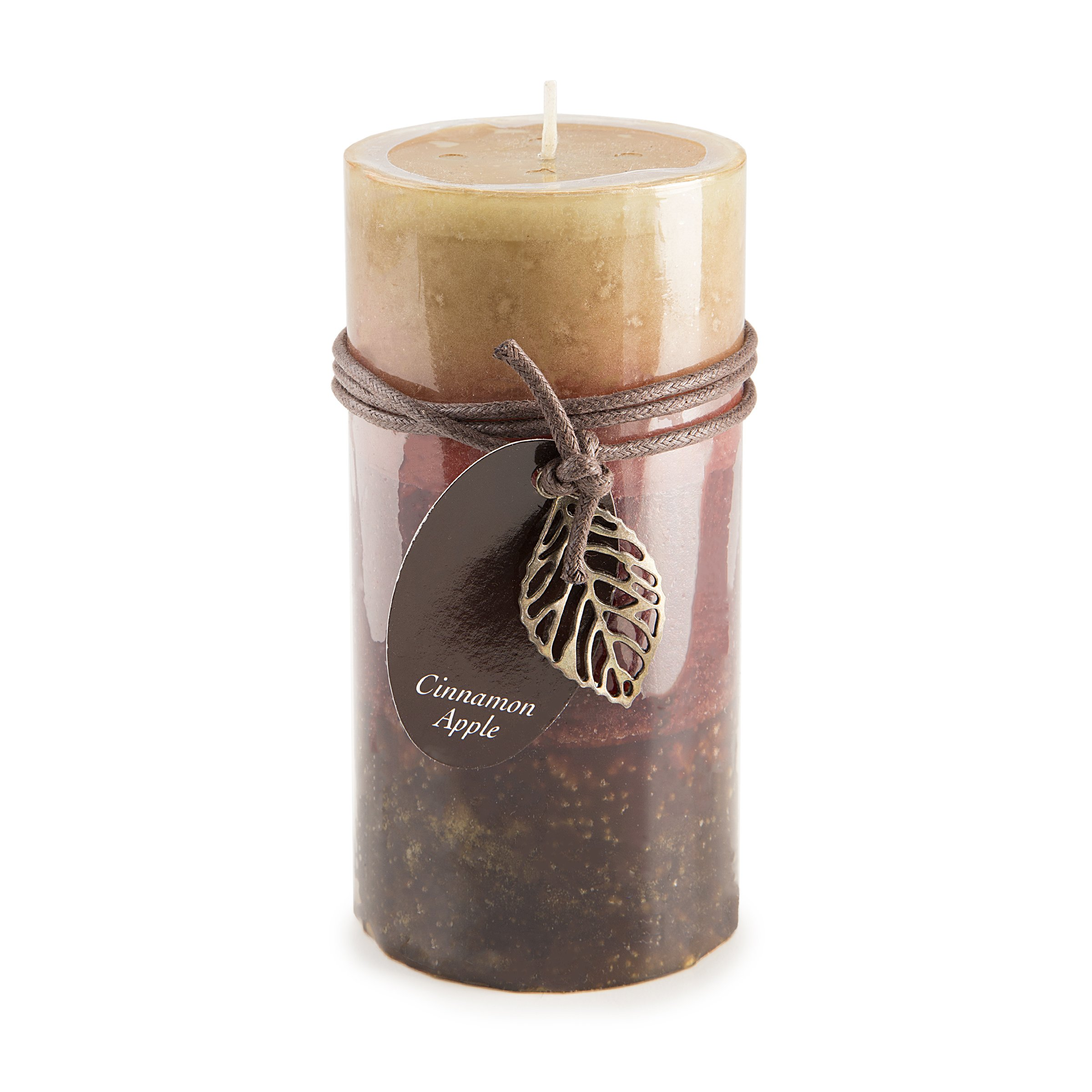 Dynamic Collections Layered Candles Cinnamon Apple 6 Inches Pillar (8 Pack)