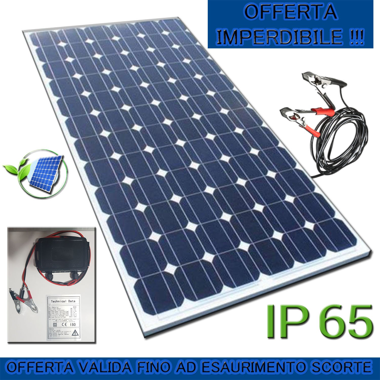 PuntoEnergia Italia - Pannello Solare 100W 12V Monocristallino Fotovoltaico Impianto Camper Casa Baita - SR100-M Efficient Solar Panel