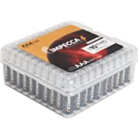 100-Pack Impecca AAA All Purpose Rechargeable Alkaline Batteries