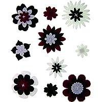 Craftime AC0135R Color conexión de Flores de Fieltro
