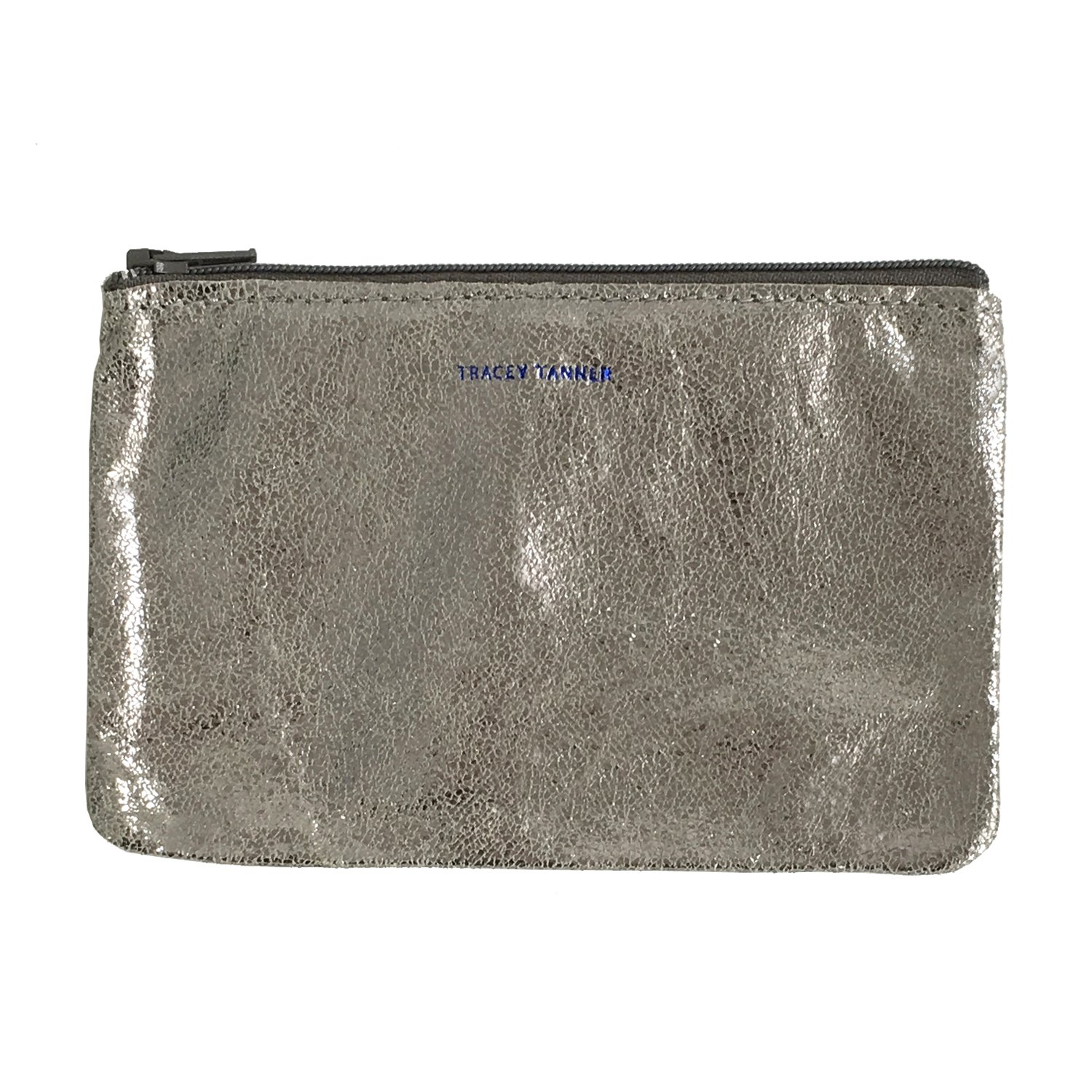 Tracey Tanner Zipper Top Pouch - Silver Sparkle
