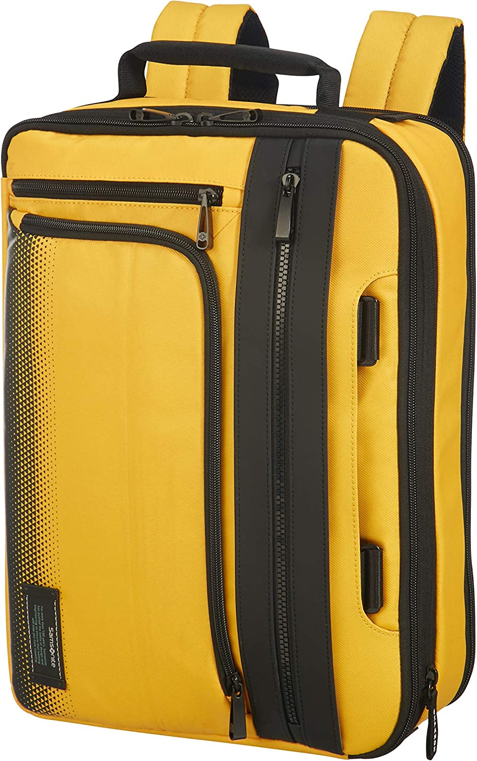 "KRPENRIO Mens Leather Business Briefcase Mens Messenger Bag Leisure Satchel Handbag Yellow for 13/""Laptop"