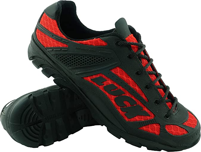 LUCK Zapatillas de Ciclismo Predator 18.0,con Suela de EVA Ideal para Poder adaptarte a Cualquier Terreno y disciplina Deportiva. (37 EU, Rojo): Amazon.es: Deportes y aire libre