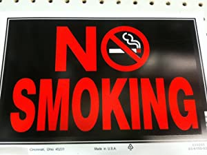 The Hillman Group 839896 8-in x 12-in Smoking Sign