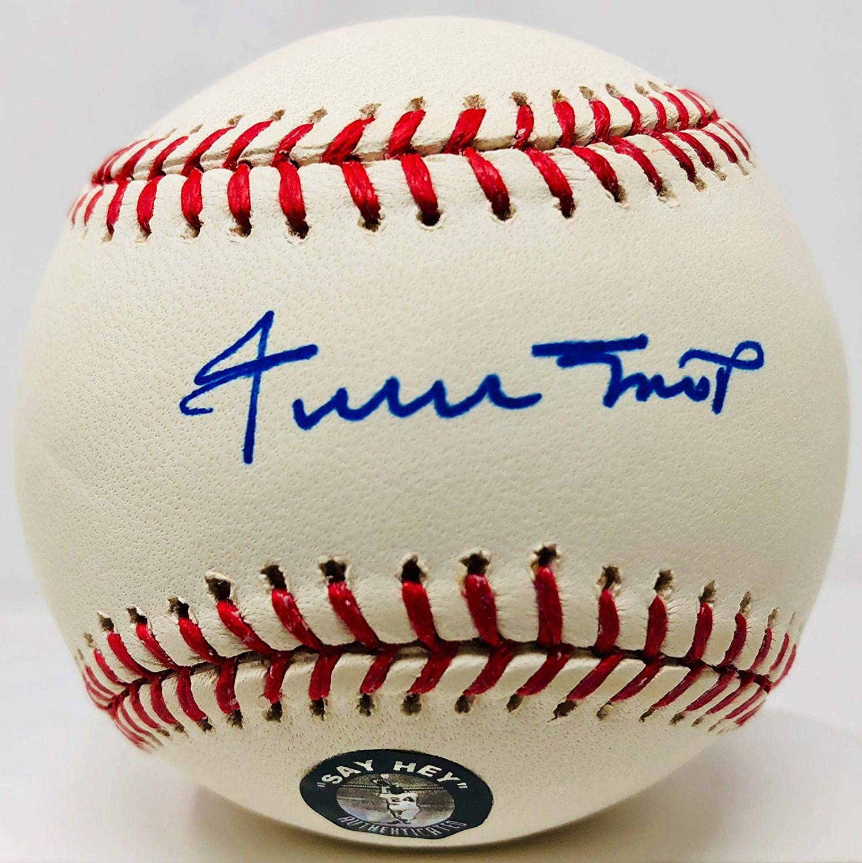 Signed Willie Mays Baseball - Hologram - Autographed Baseballs Sports Memorabilia