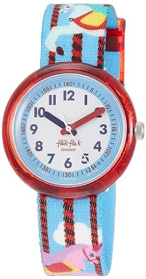Flik Flak Reloj Analógico para Niñas de Cuarzo con Correa en Tela FPNP031: Amazon.es: Relojes
