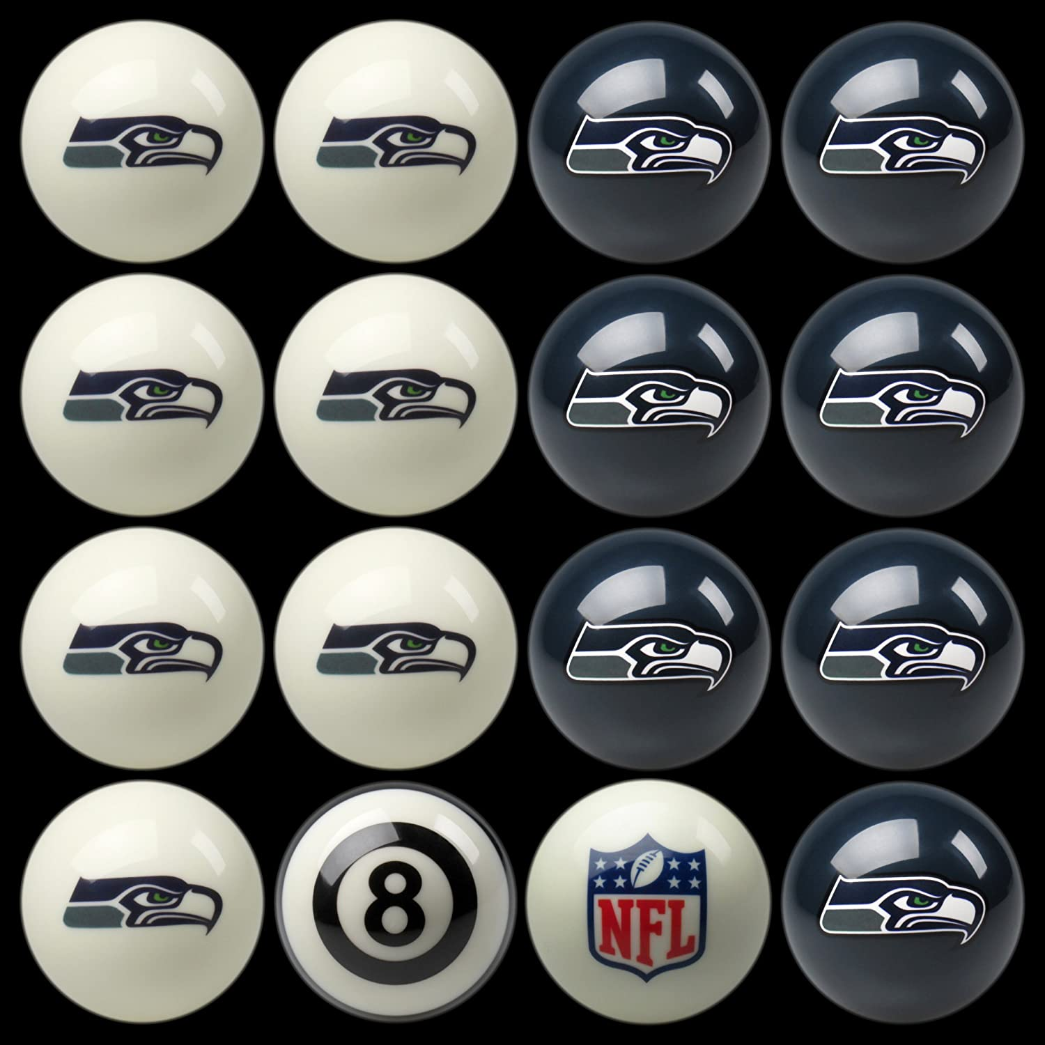 amazon com nfl seattle seahawks billiards ball set sports fan