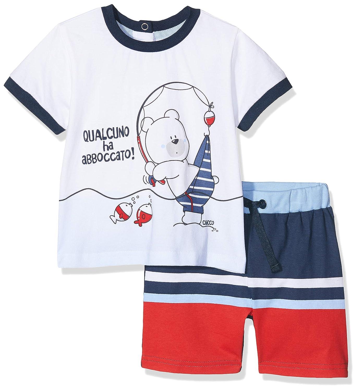 Chicco Baby-Jungen Completo T-Shirt Manica Corta Pantaloncini Pullunder