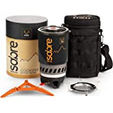 Sabre Portable Backpacking Stove, Quick Boil 1000 w Gas Jet Burner Piezo Ignition, Camp Cooking Set, Camping Cookware…