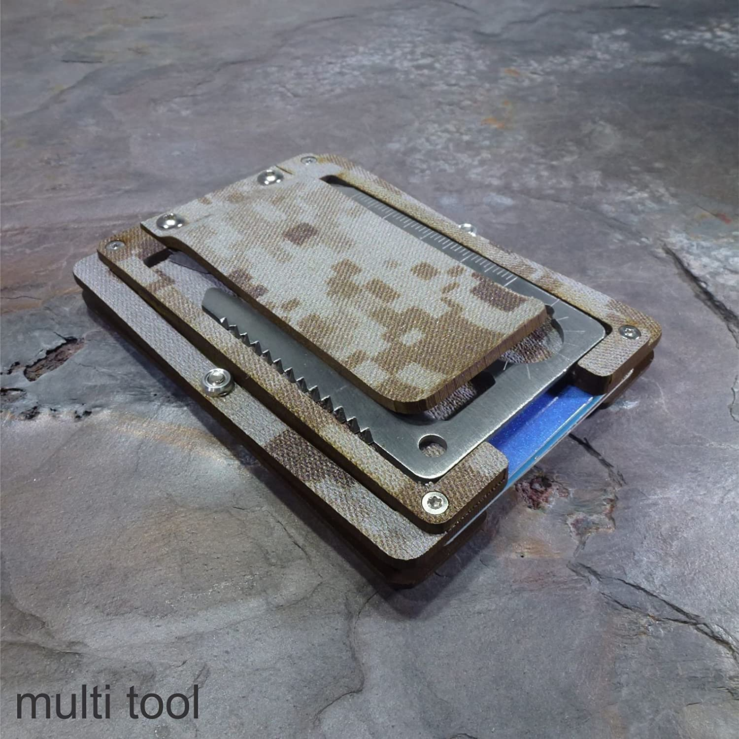 MultiWallet Desert Eagle Edition. Kydex Tactical Wallet With Money Clip and Multitool.