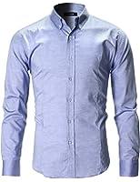FLATSEVEN Men's Slim Fit Casual Oxford Button Down Shirt