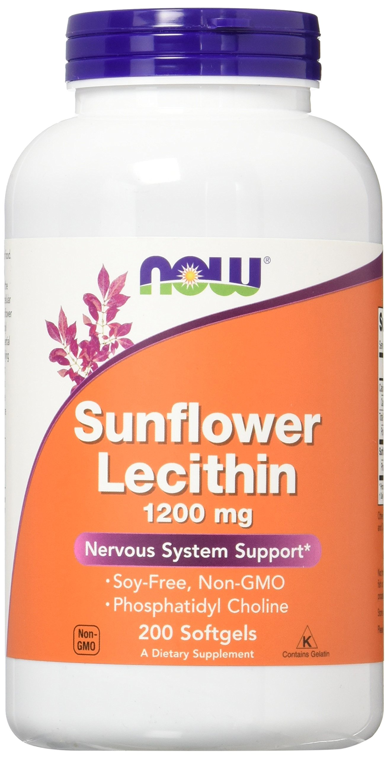 NOW Sunflower Lecithin 1200 mg,200 Softgels
