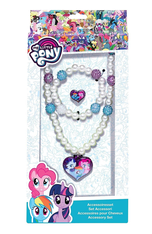 Joy Toy 95802 - My Little Pony Schmuckset- Kette, Armband und 1 Ring in Geschenkverpackung, 12 x 4 x 18 cm