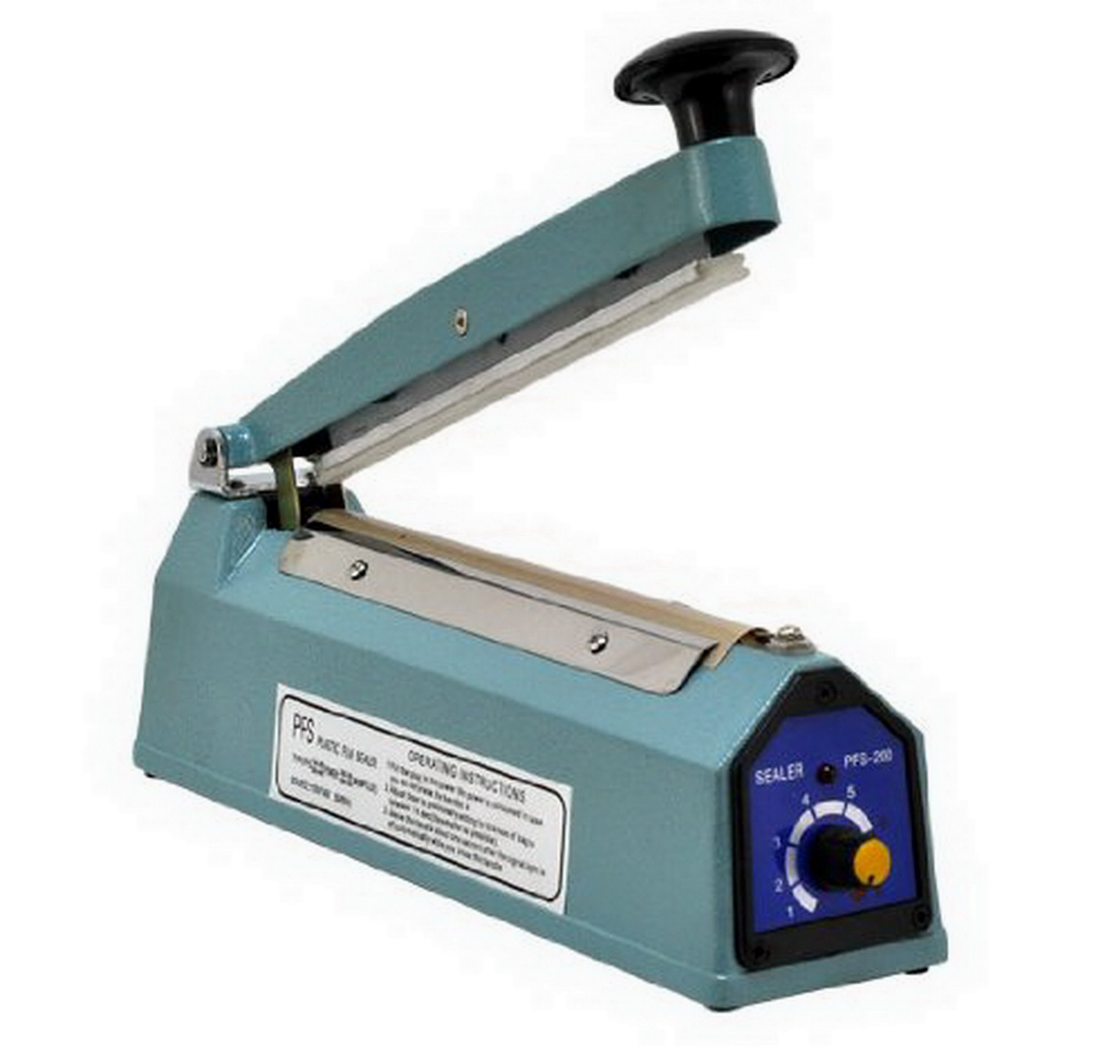 8'' PFS-200C Hand Impulse Sealer With Cutter Heat Seal Plastic Poly Manual Bag Closer
